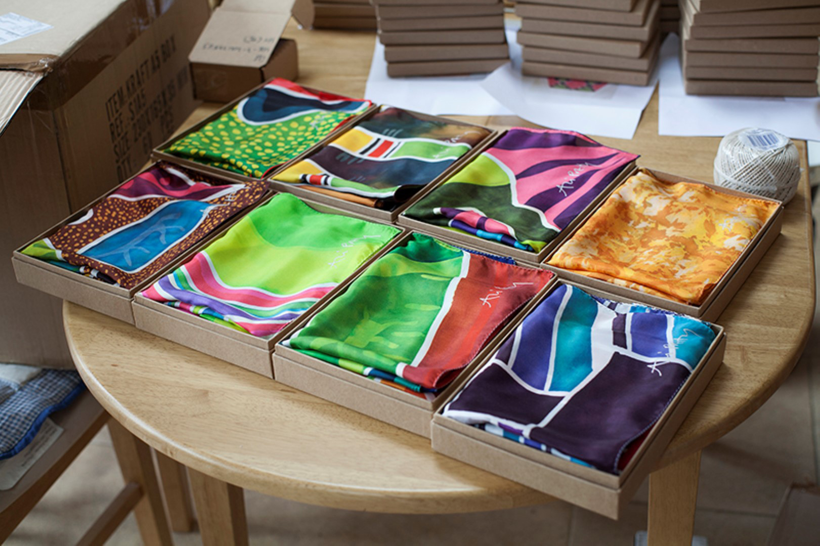 Silk pocket squares - ready for posting