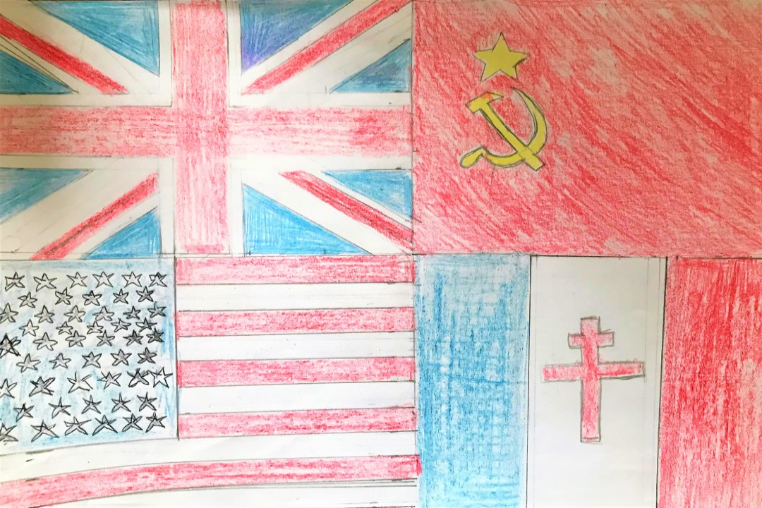 Godwin Primary VE Day Banner Designs