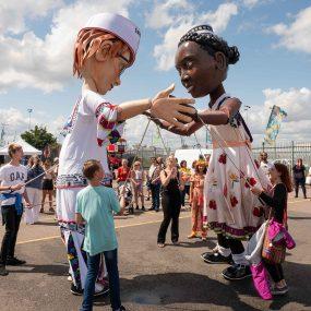 Tilbury puppets at Tilbury carnival