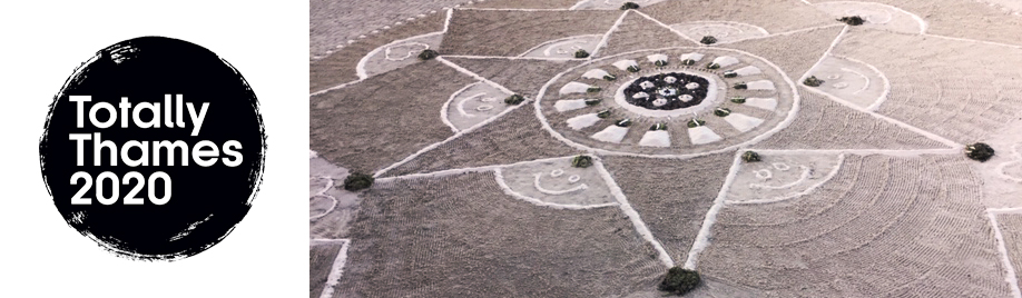 Mandalas will be made along the route of the Thames during T100