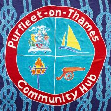 Purfleet flag showing Purfleet Community Hub