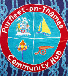 Purfleet flag showing Purfleet Community Hub