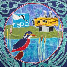Purfleet flag showing the RSPB nature reserve