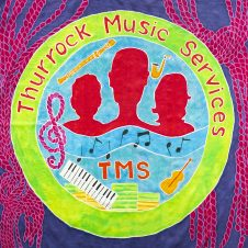 Purfleet flag showing Thurrock Music Services
