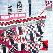 Tilbury Flags Map of the journey of Empire Windrush
