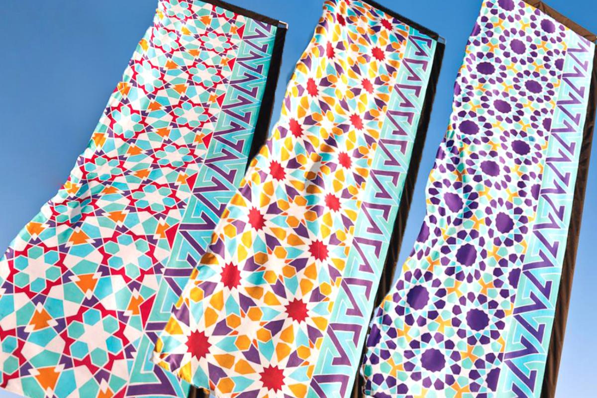 Art In the Park silk flags