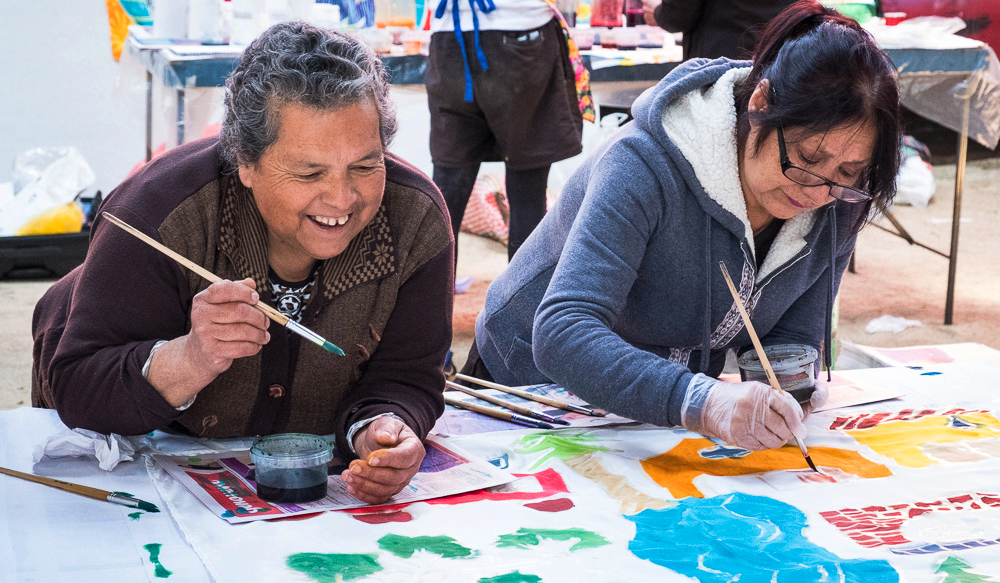 Chile flag workshops
