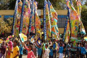 Ethiopia silk flags