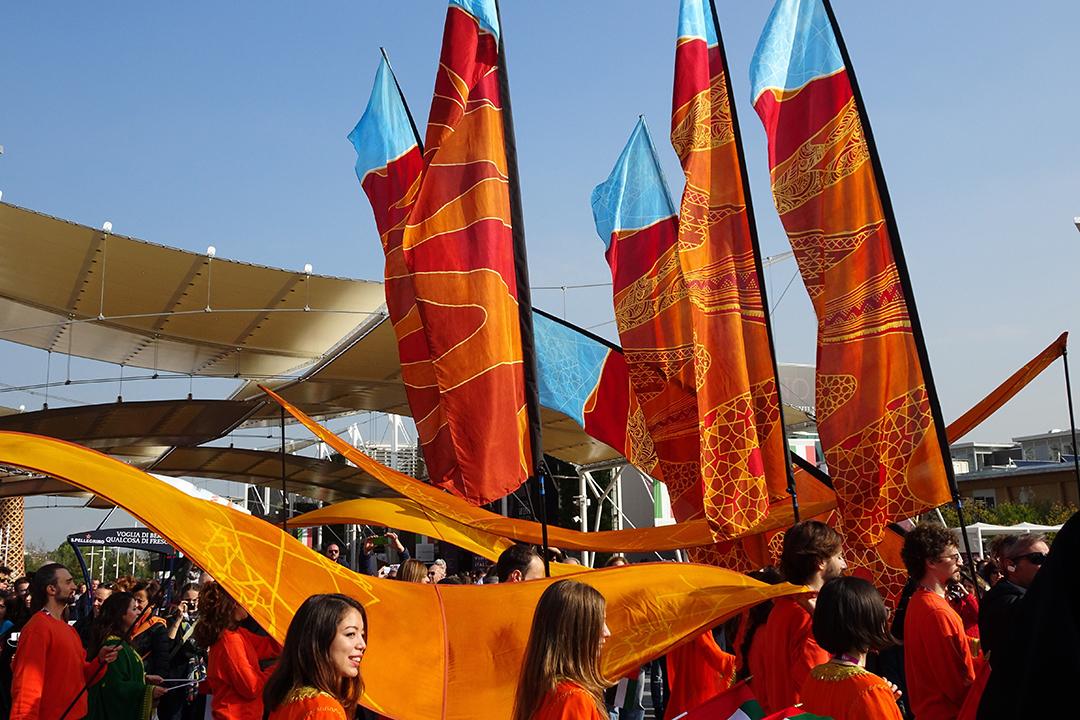 Milan Expo desert flags