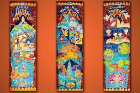 Neasden Temple silk banners