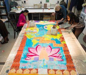 Neasden Temple silk batik workshops