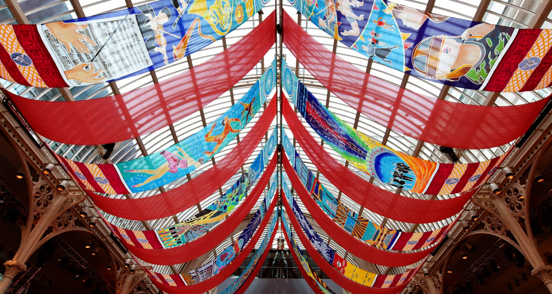 Royal Opera House bespoke silk installation