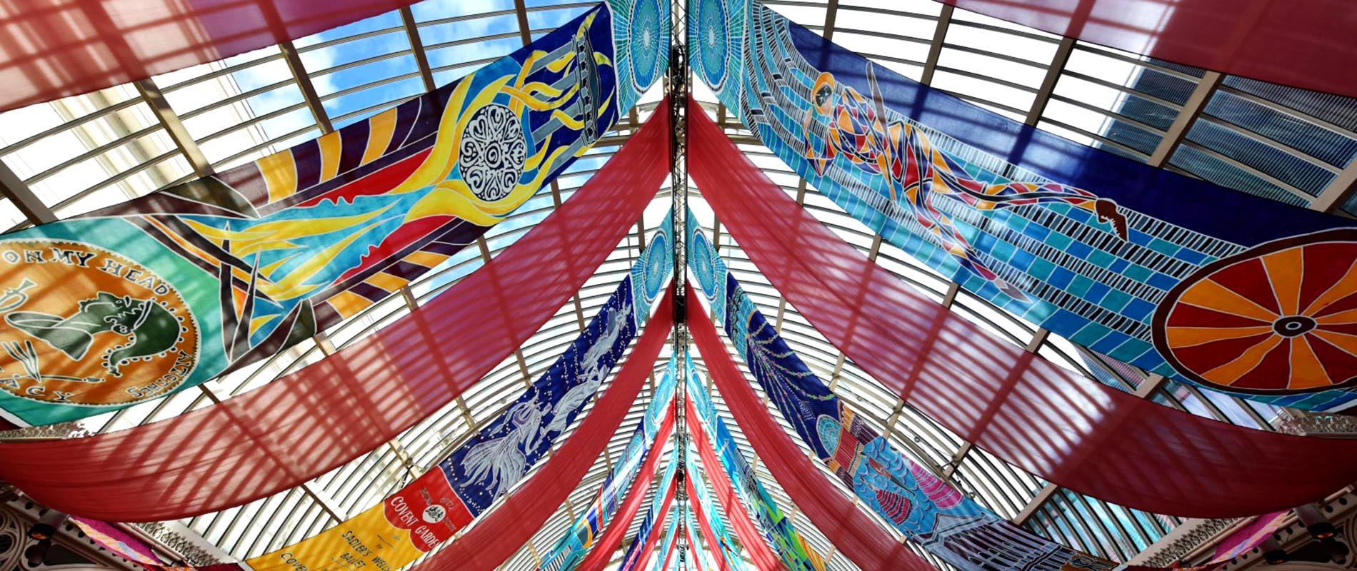 Royal Opera House hand painted silks