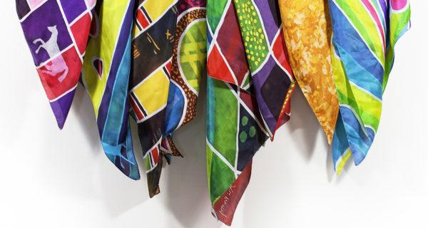 Silk pocket squares by Kinetika