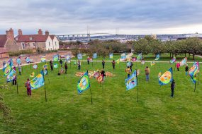 Purfleet flags at the T100 festival finale