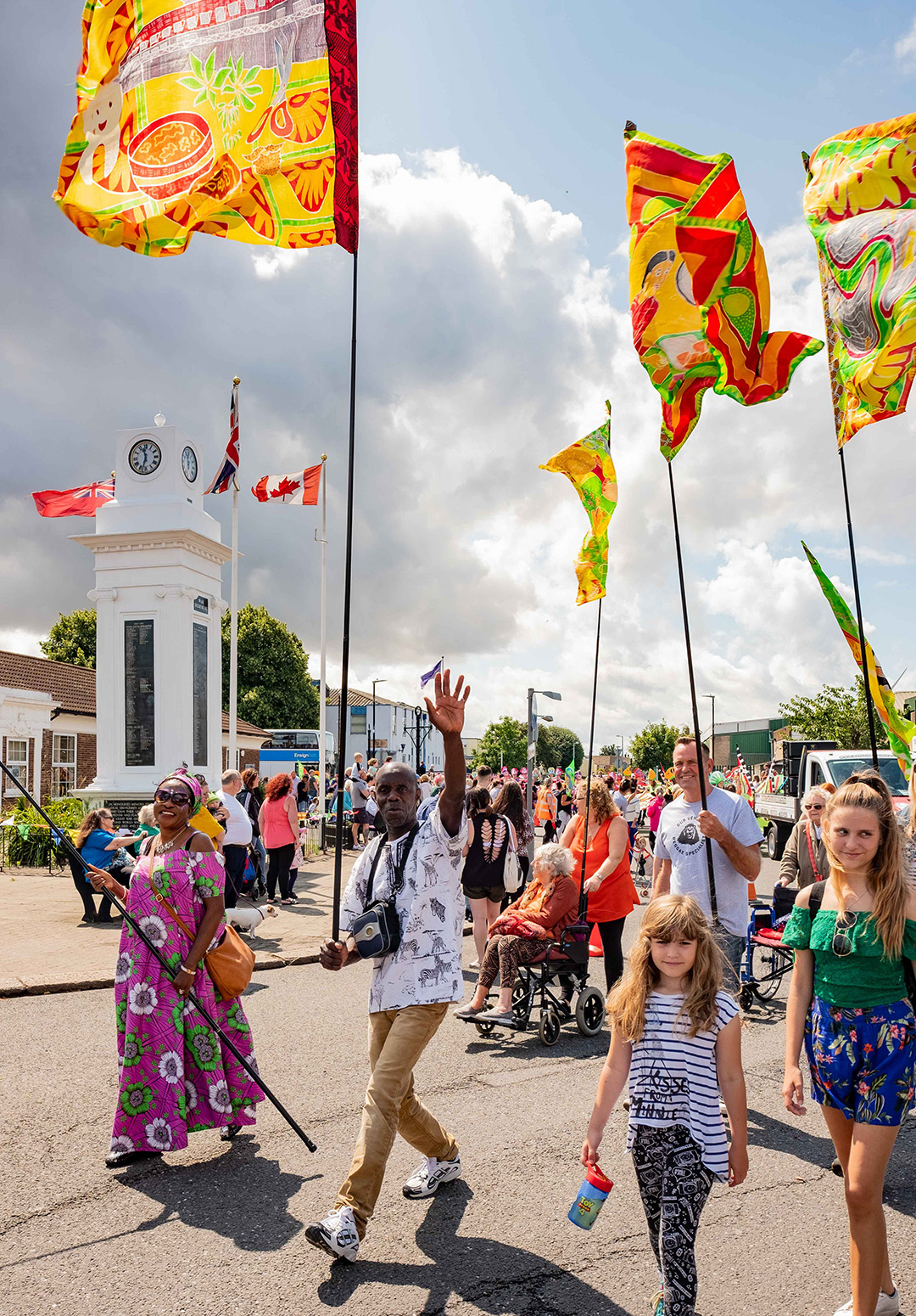 Tilbury flags at carnival