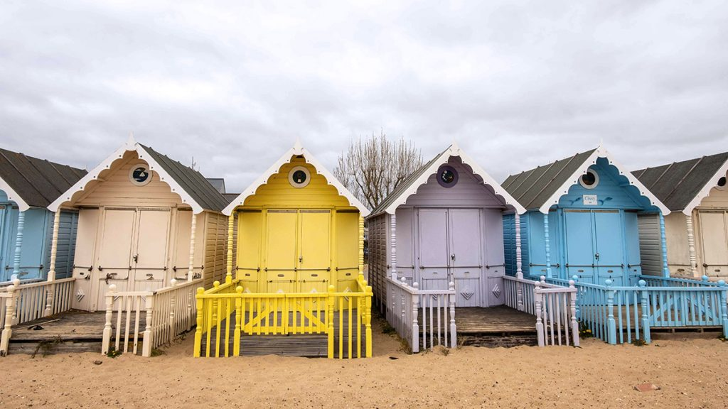Beach huts in Mersea