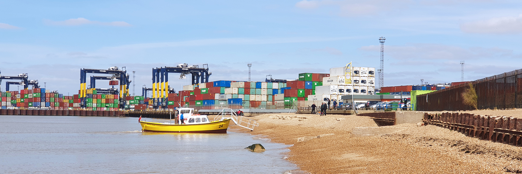 Landguard Point ferry and port