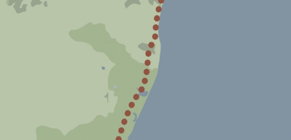 Beach of Dreams walk 1 map