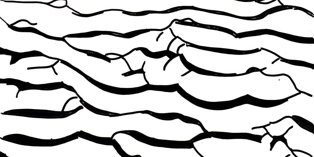 Mile 194 by Jane Ostler Barnett sand texture drawing