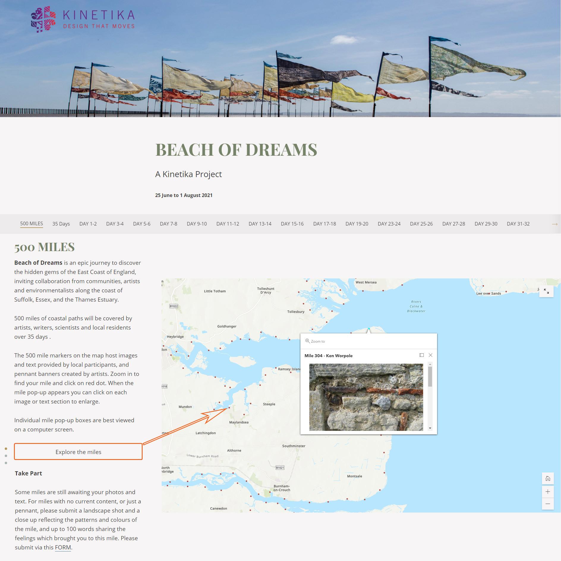 Beach of Dreams Story Map