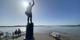 Brithnoth statue at Maldon credit Kevin Rushby