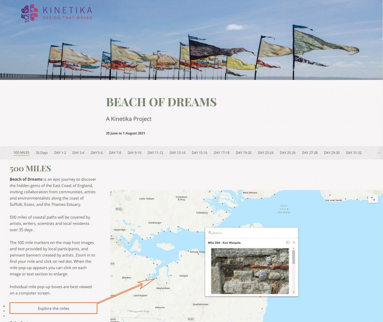 Beach of Dreams storymap