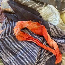 Dyed silks