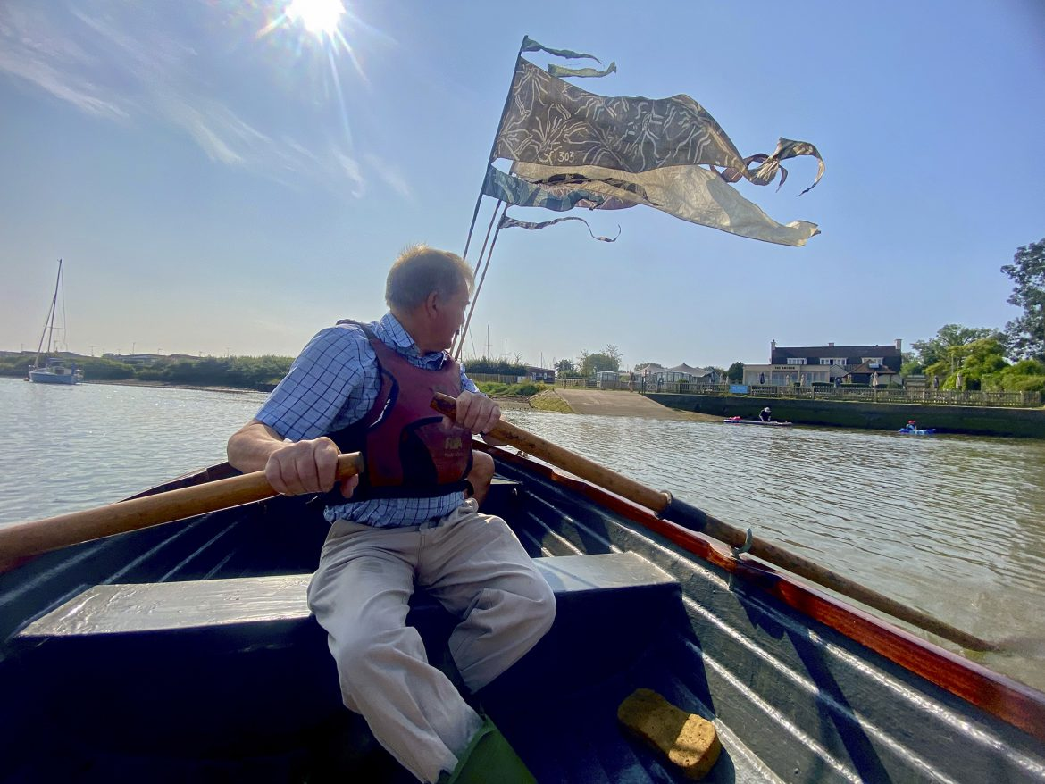 Doug Rowing at South Woodham Ferrers credit Kevin Rushby