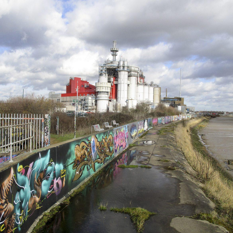 Graffiti wall credit Lesley Robinson