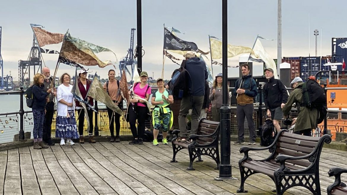 Posing for the cameras in Harwich