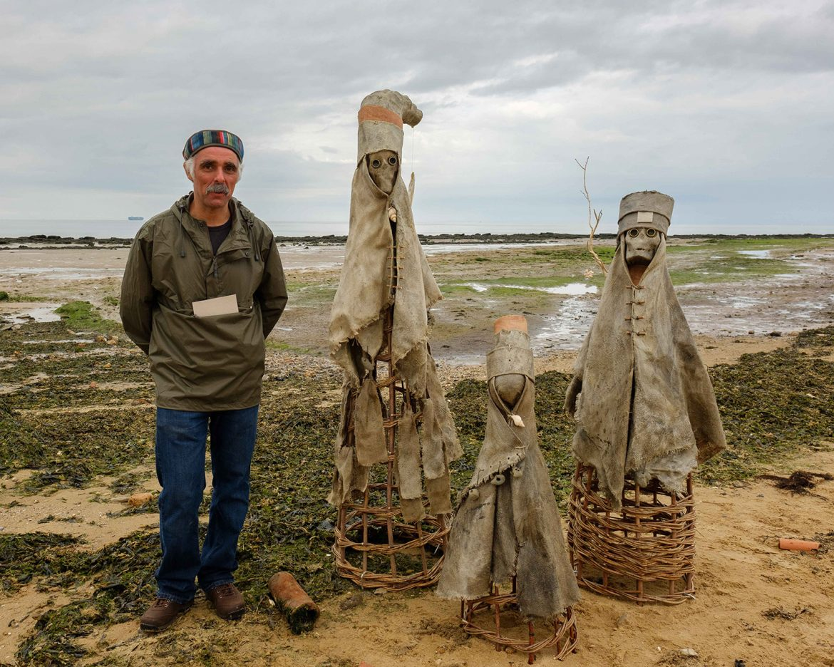 The Sea People sculptures with artist Nabil Ali