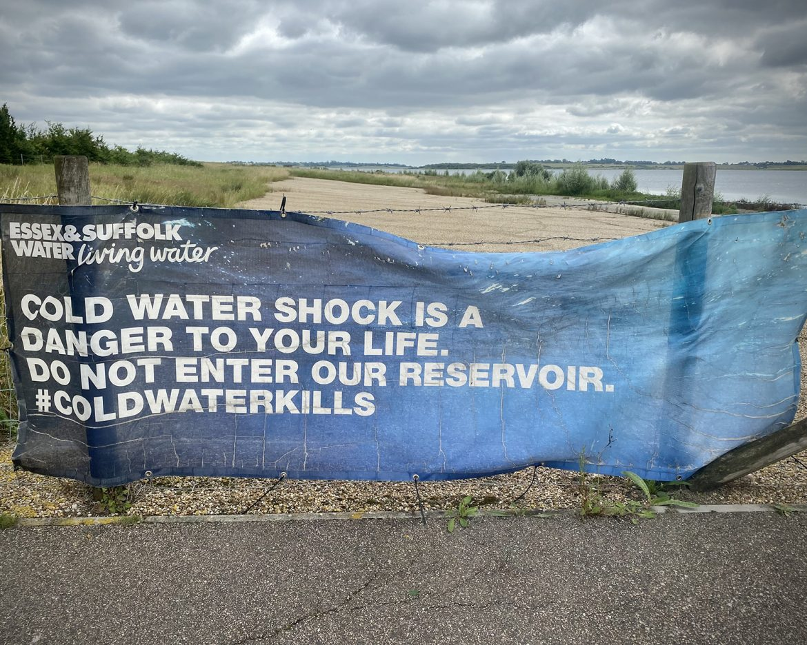 Sign at Abberton Reservoir credit Kevin Rushby