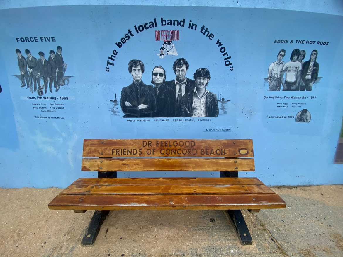 Dr Feelgood bench Canvey Island credit Kevin Rushby