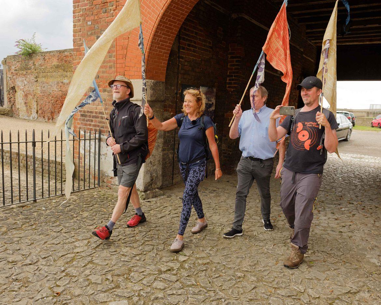 Walking into Tilbury Fort credit Mike Johnston